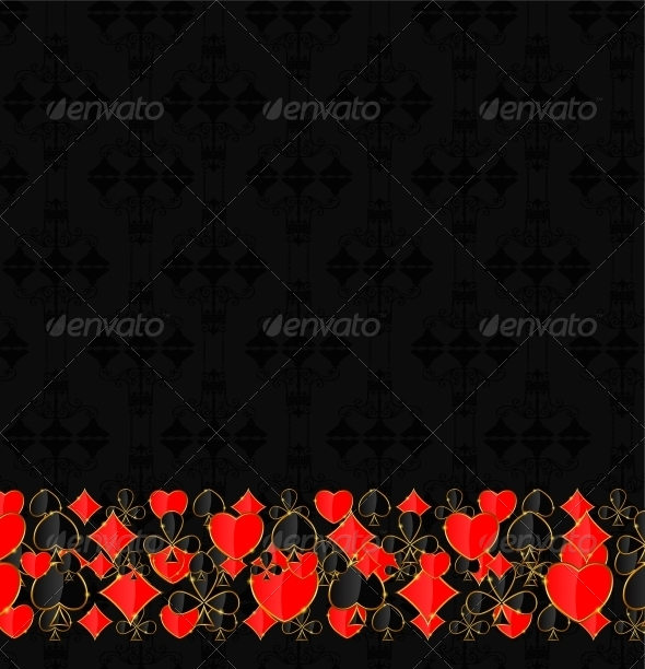 Abstract Background with Card Suits for Design.  - Decorative Symbols Decorative