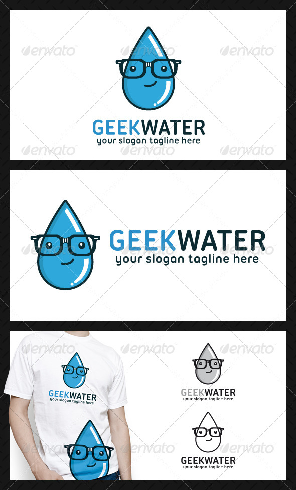 Geek Water Logo Template - Nature Logo Templates