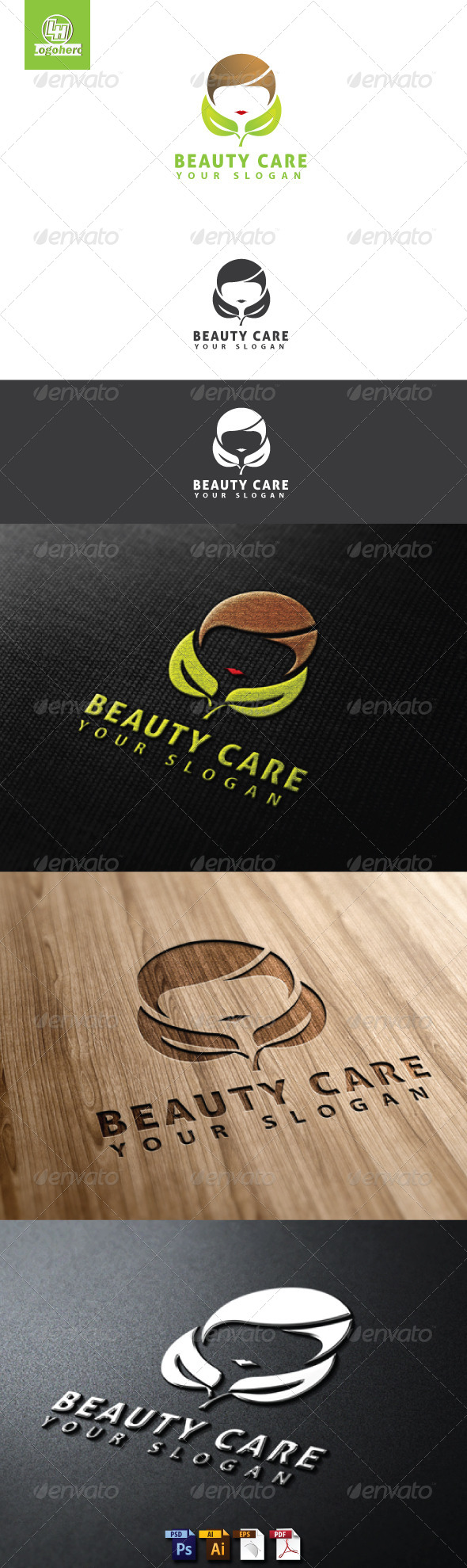 Beauty Care Logo Template - Humans Logo Templates