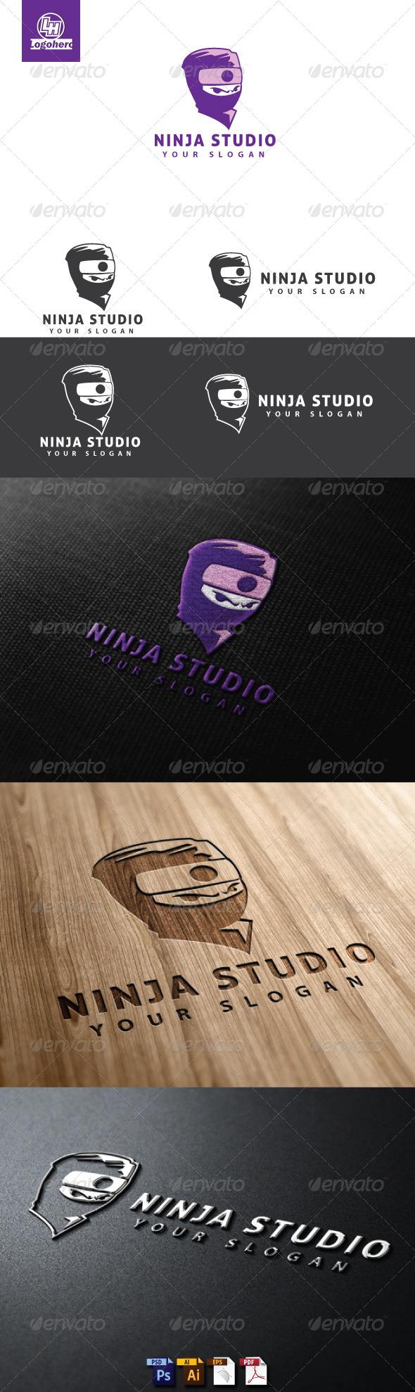 Ninja Studio Logo Template - Humans Logo Templates