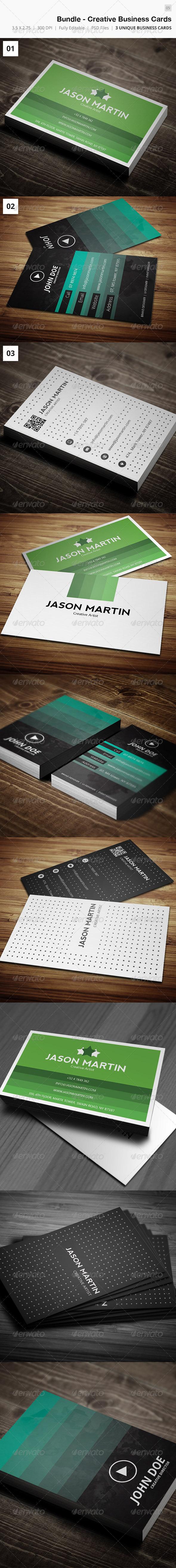 Bundle - Creative Business Card 05 - Creative Business Cards