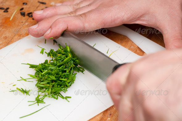 Cutting Vegetables - Stock Photo - Images
