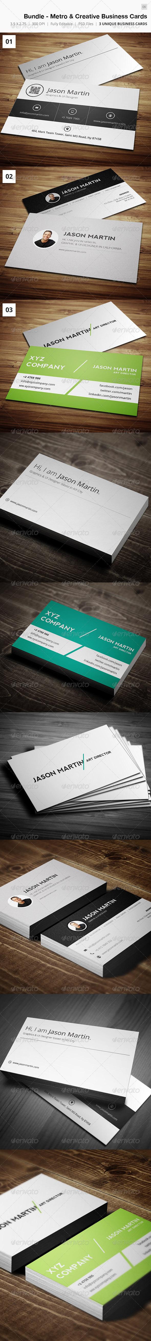 Bundle - Metro & Creative Business Cards 06 - Creative Business Cards