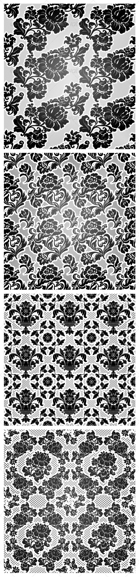 4 Lace Background, Ornamental Flowers Wallpaper - Backgrounds Decorative