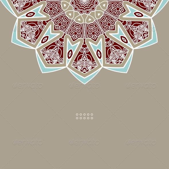 Vector Round Decorative Design Element - Decorative Symbols Decorative