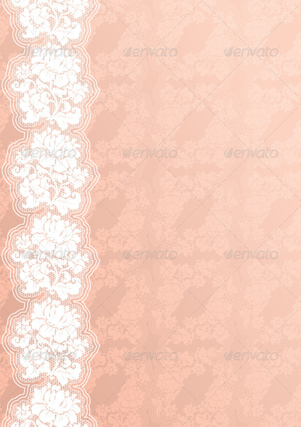 Floral Background with Lace - Backgrounds Decorative