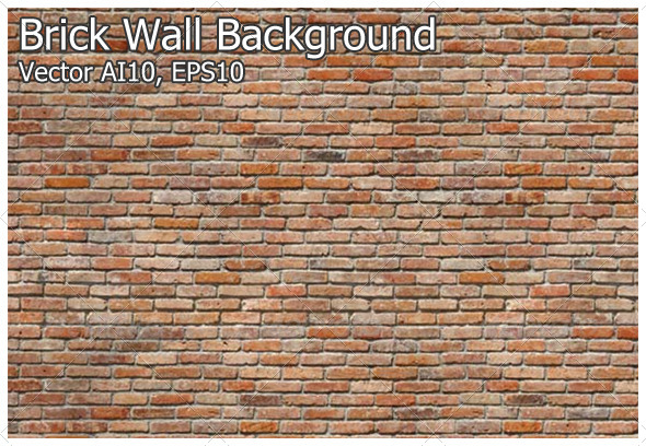 Brick Wall Background - Backgrounds Decorative