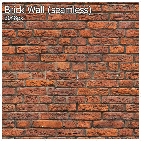 Brick Wall (seamless) - 3DOcean Item for Sale