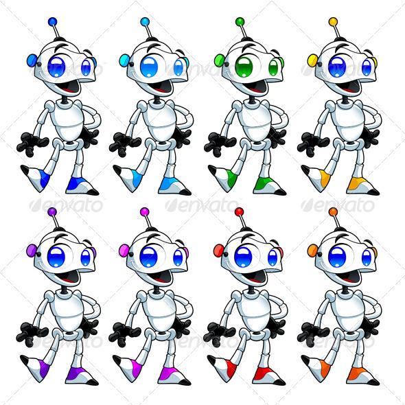 Funny Robots. - Characters Vectors