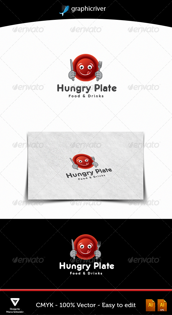 Hungry Plate - Food Logo Templates