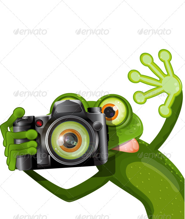 Frog with a Camera - Animals Characters