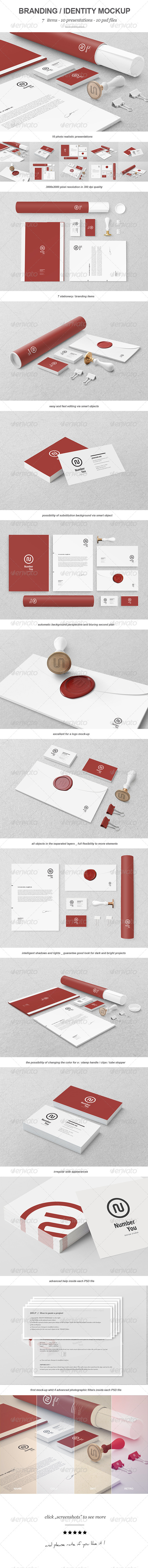 Branding / Identity Mock-up 3 - Print Product Mock-Ups