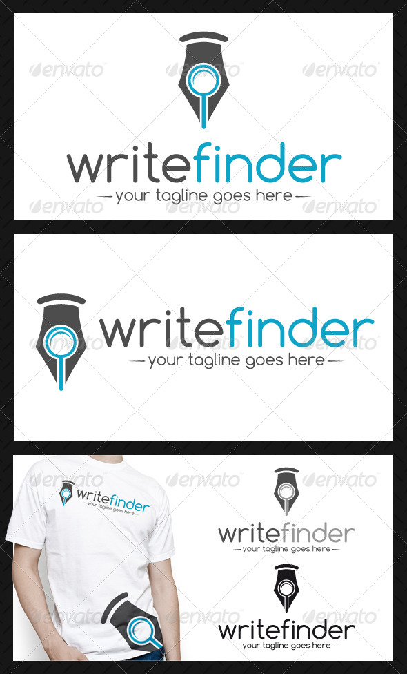 Writer Finder Logo Template - Symbols Logo Templates