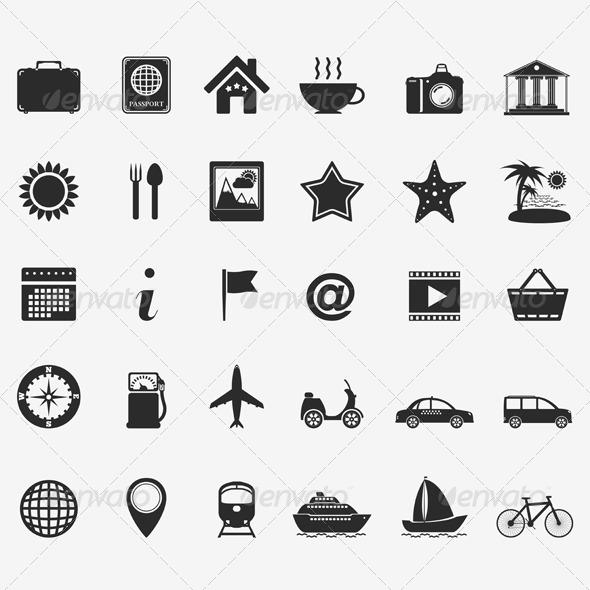 Travel Icons - Web Elements Vectors
