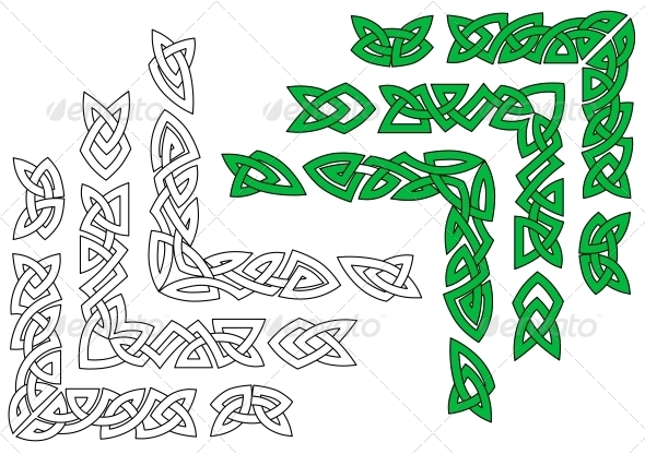 Celtic Ornaments and Patterns - Borders Decorative