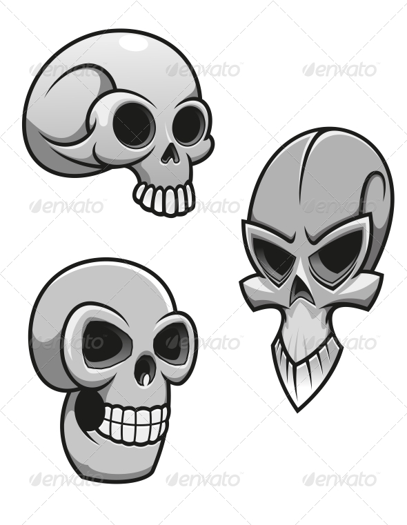 Set of Skulls - Monsters Characters
