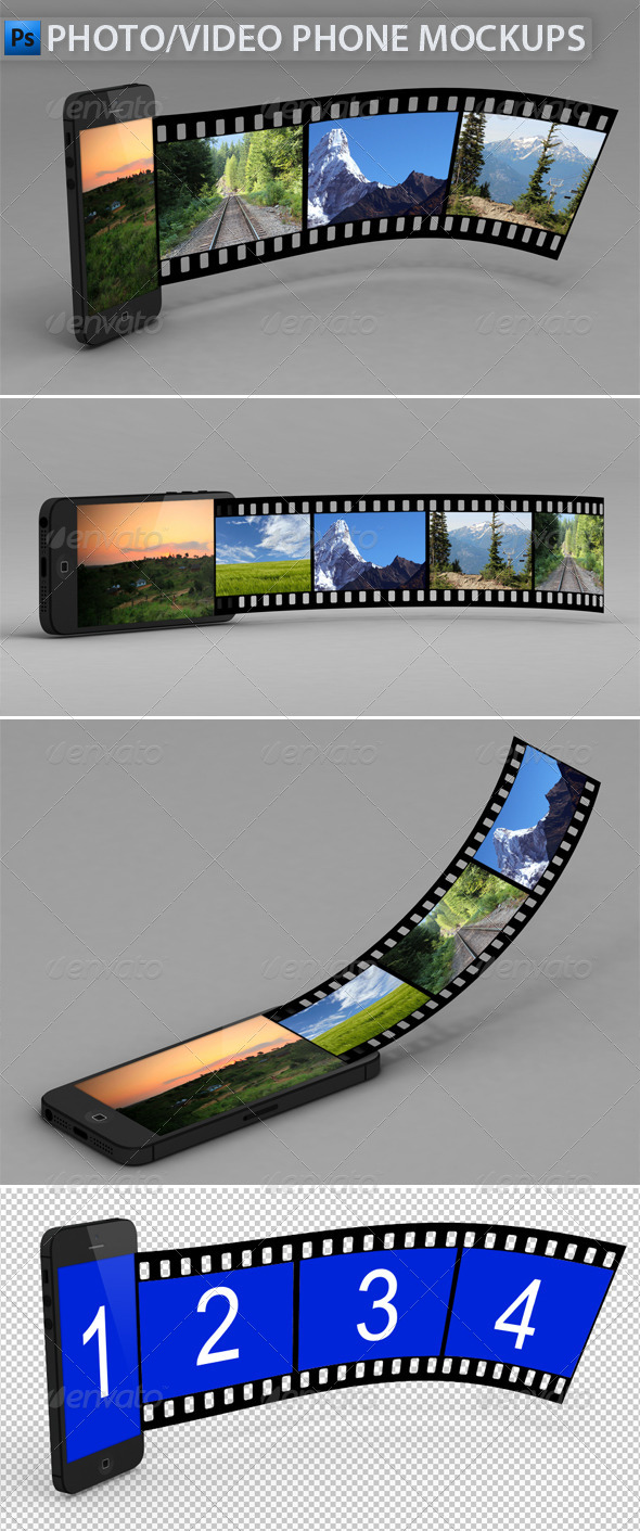 Video/Photo Phone Mock-Ups - Miscellaneous Product Mock-Ups