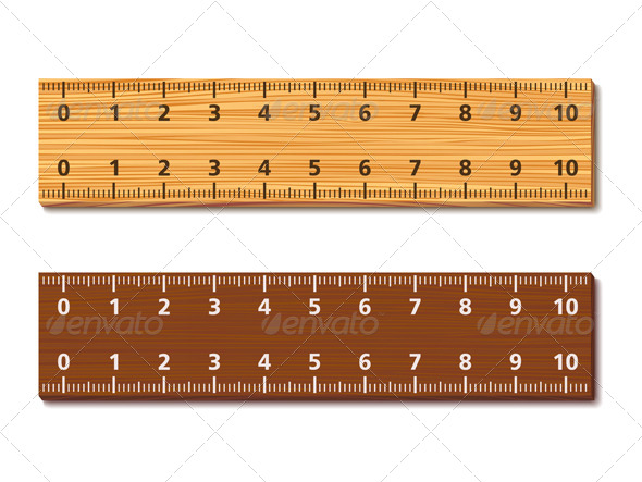 Wooden Rulers - Objects Vectors
