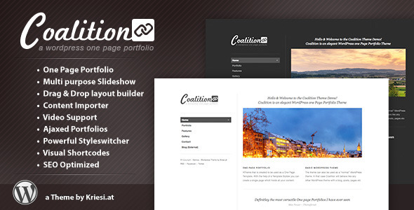 Coalition - One Page WordPress Portfolio - Portfolio Creative