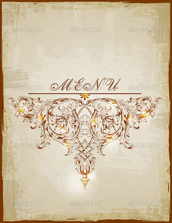 Vintage Menu - Backgrounds Decorative