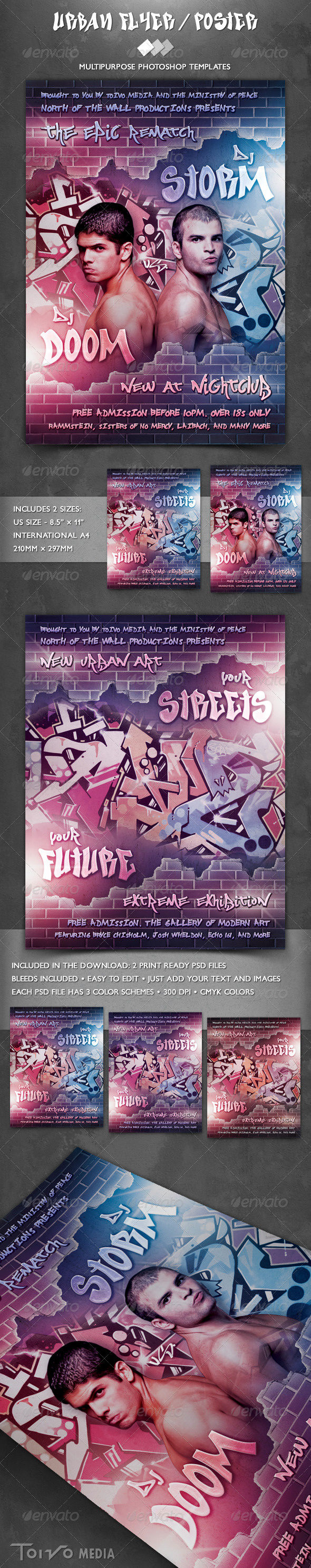 Urban Street Wall Flyer - Sports Events