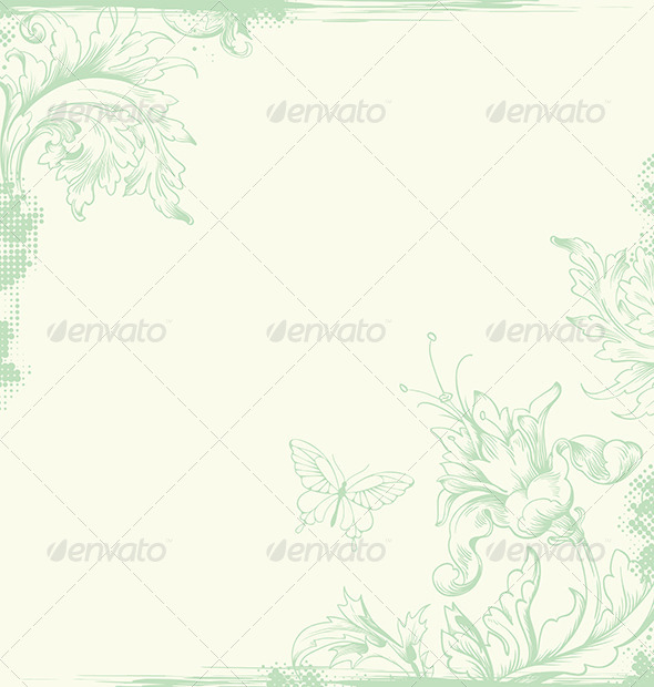 Vintage Card - Backgrounds Decorative