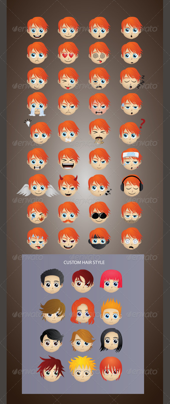 Emoticons Version 3 - People Characters