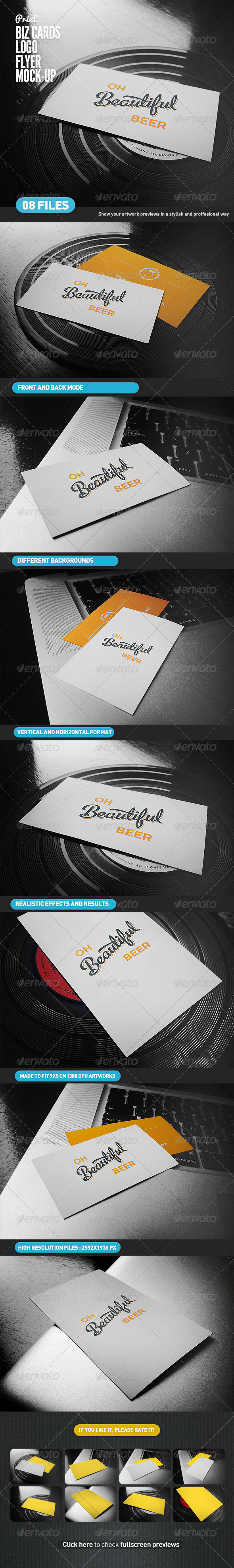 Business cards flyer logo mock up by itscroma graphicriver business cards flyer logo mock up business cards print reheart Image collections