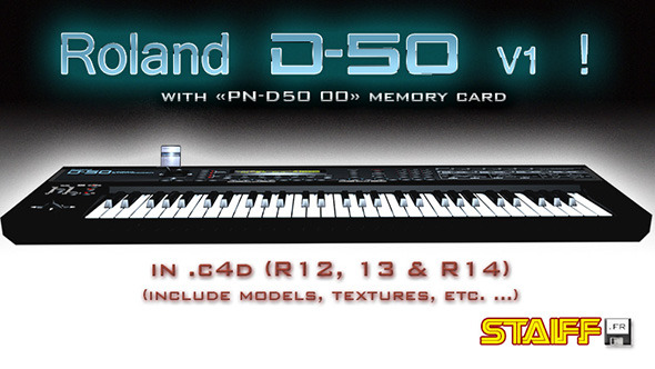 Roland D-50 V1 - 3DOcean Item for Sale