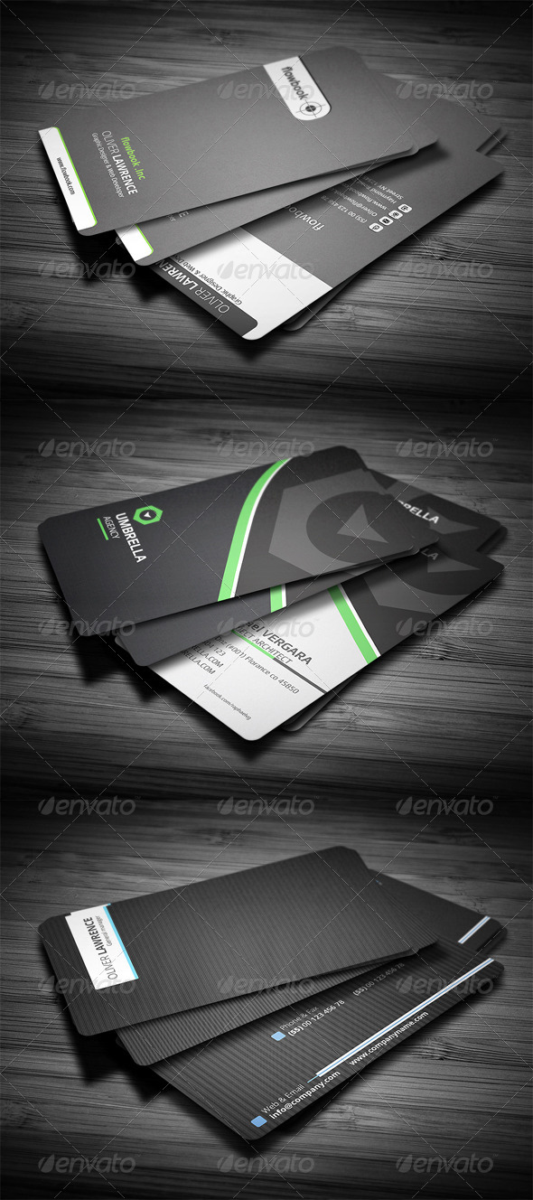 3 in 1 Business Card Bundle #3 - Corporate Business Cards