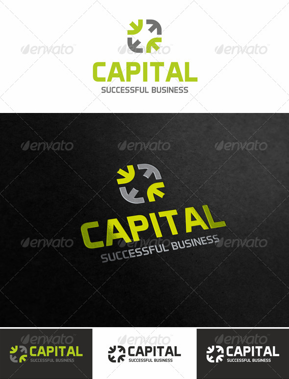 Capital Center Logo - Vector Abstract