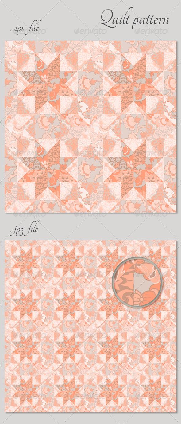Quilt Seamless Pattern Background Star Shape  - Patterns Decorative