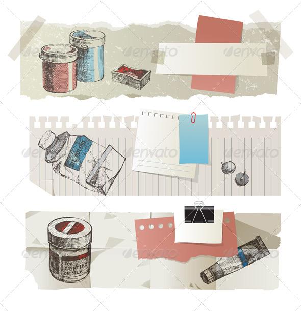 Paper Banners - Miscellaneous Vectors