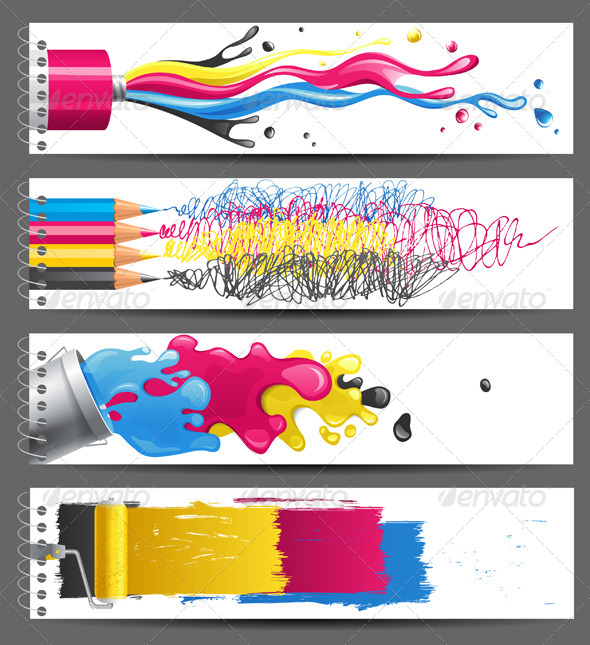 CMYK Banners - Abstract Conceptual