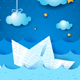 Paper Boat at Night - GraphicRiver Item for Sale