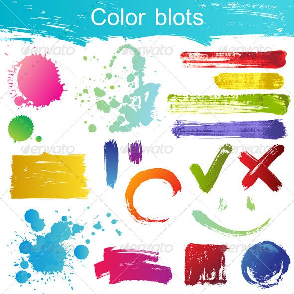 Color Blots - Abstract Conceptual