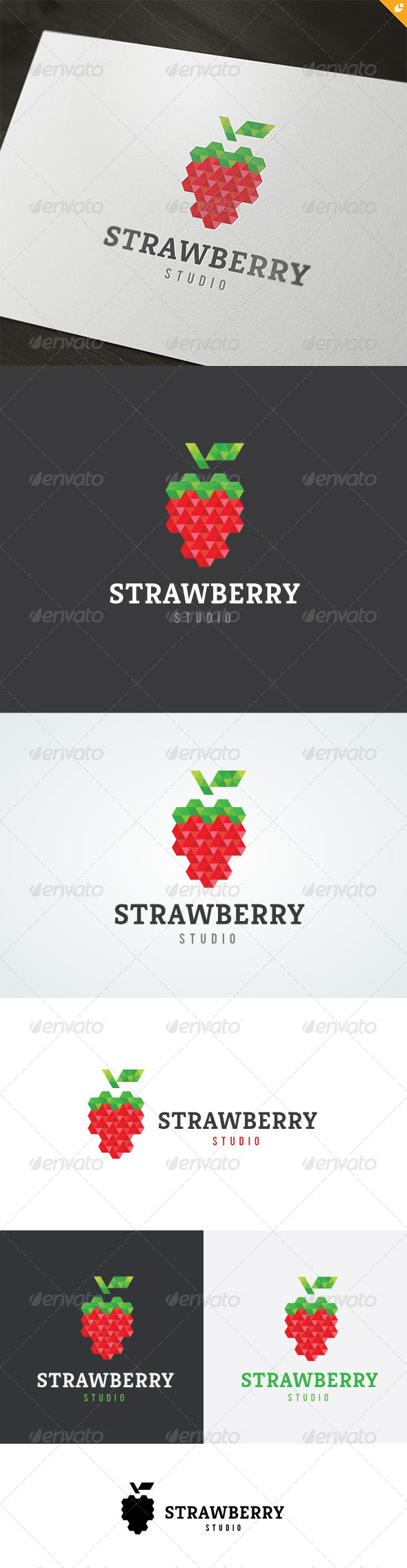 Strawberry Studio Logo - Food Logo Templates