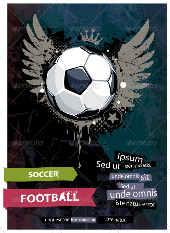 Grunge football illustration - Vectors