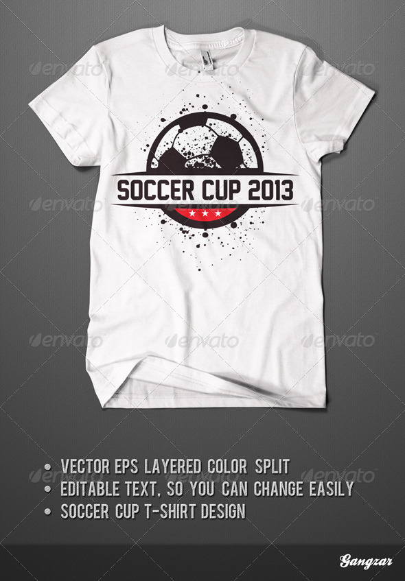 Soccer Cup T Shirt Design By Gangzar Graphicriver
