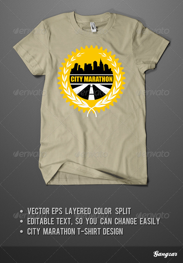 City Marathon T-Shirt Design - Sports & Teams T-Shirts
