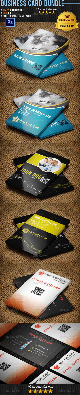 Corporate Business Card Bundle 07 - Corporate Business Cards