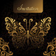 Invitation with Golden Butterfly - GraphicRiver Item for Sale