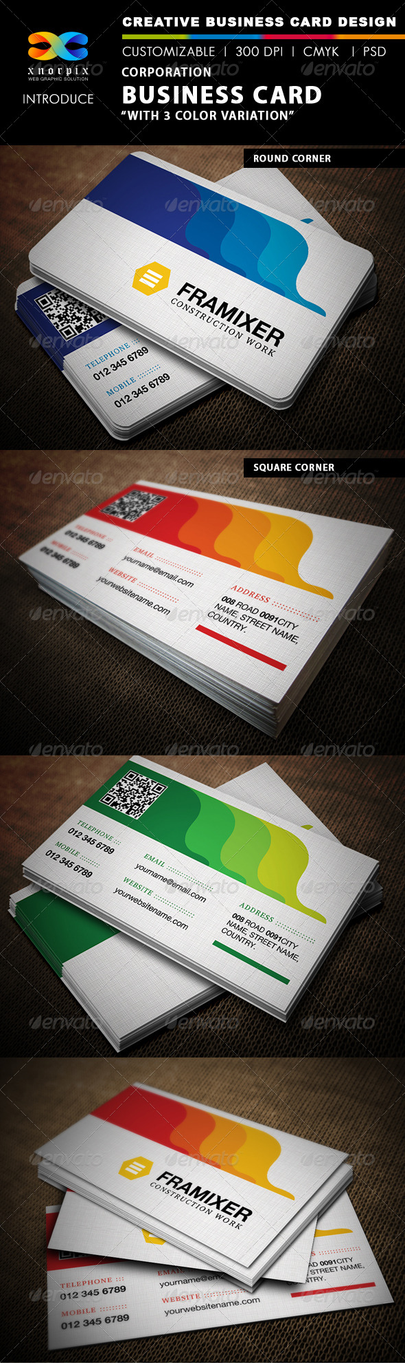 Corporate Business Card - Corporate Business Cards