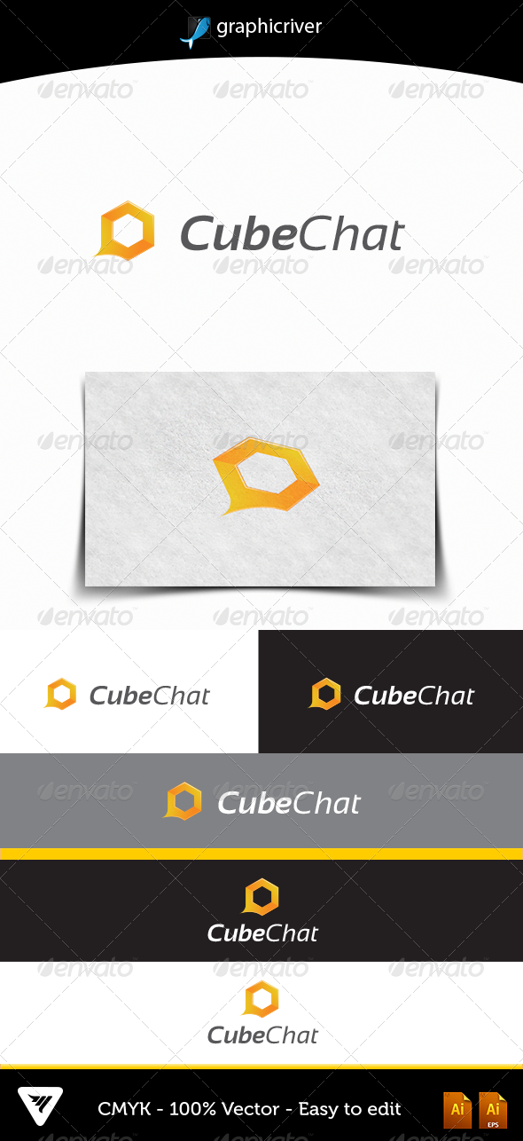 Cubechat - Logo Templates