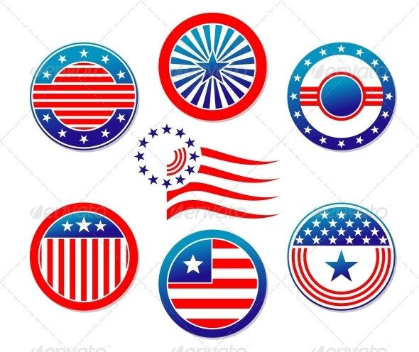 American National Banners and Symbols - Miscellaneous Vectors