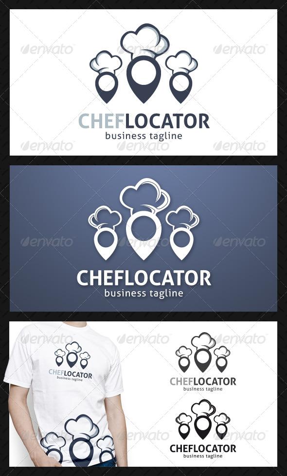 Chef Locator Logo Template - Food Logo Templates