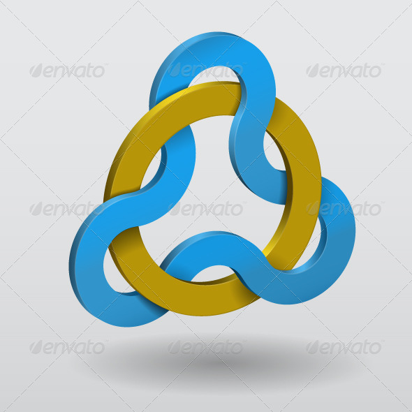 Abstract Illustration of Circular Triquetra Knot - Abstract Conceptual