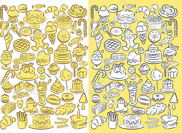 Sweets Vector - Food Objects