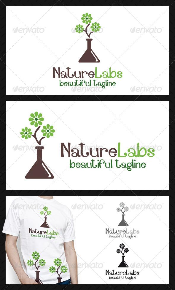 Nature Labs Logo Template - Nature Logo Templates
