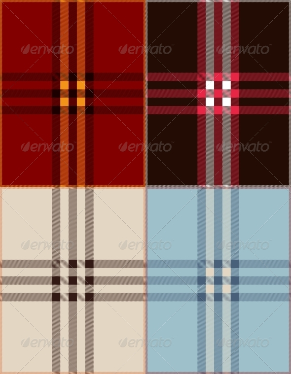 Plaid Texture Background Vector Illustration - Patterns Decorative